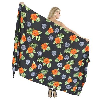 *La Leela* femmes de taille plus douce et lisse likre wrap de palme jupe paréo plage 78x42inch