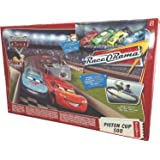 Disney Pixar CARS Movie Toy Exclusive Piston Cup 500 Track Playset with 4 Die Cast Cars (Lightning McQueen, Chick Hicks, King and Leakless)