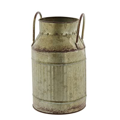 Rustic Galvanized Metal Milk Jug Planter : Garden & Outdoor