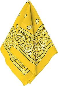 "Amscan Bandana, Party Accessory, Yellow , 20"" x 20"" - 255561.09"