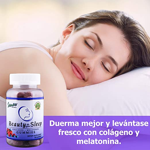Amazon.com: Sanar Naturals Collagen Gummy Beauty Sleep Aid (60 Count) - Melatonin and Hydrolyzed Collagen Supplement for Women Men Hair Growth, Skin, Nails, ...