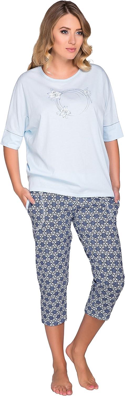 Italian Fashion IF Pijama Camiseta y Pantalones Mujer M1R3N1