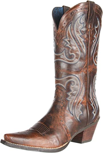 Ariat Women's Heritage Western X Toe Western Cowboy Boot, Sassy Brown, ...
