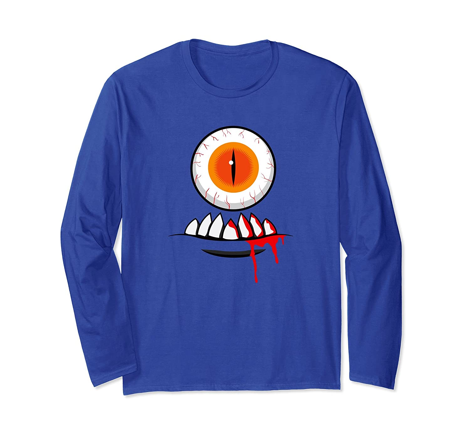 FUNNY HALLOWEEN LONG SLEEVE SHIRT - Cyclops Monster Costume-ANZ