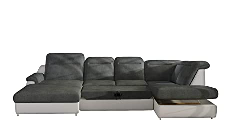 Amazon.com: MONERO XL Sleeper Sectional Sofa, Right Corner ...