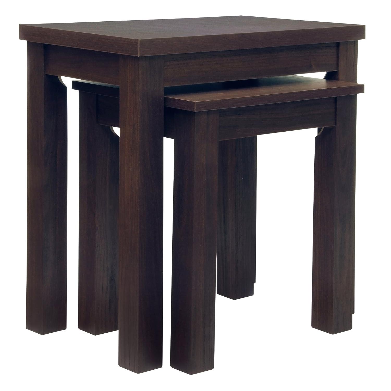Stanton Dark Oak Nested Side End Tables Next Amazon