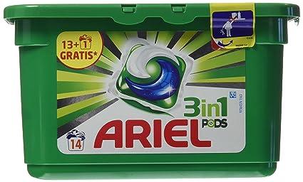 Ariel Detergente 3 en 1-14 Cápsulas
