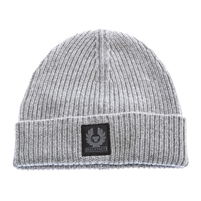 Belstaff Uomo Seabrook 2.0 beanie cappello Grigio Unica Taglia  Amazon.it   Abbigliamento 721d59c69ad4