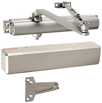 Stanley Commercial Hardware Commercial Non Hold Open Tri Packed Arm Heavy Duty Door Closer From The Qdc200 Collection Full Size Cover Painted Aluminum Finish Amazon Com Industrial Scientific
