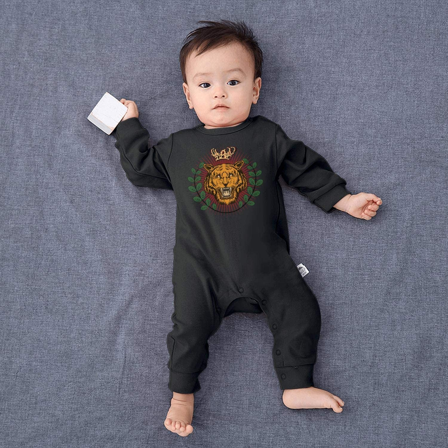 Technicolor King Lion Printted Baby Crawling Suit Lone-Sleeved Romper Bodysuit