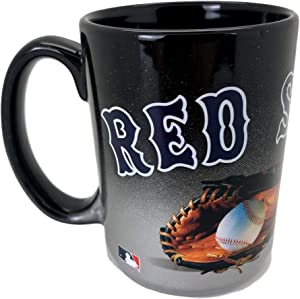 Boston Red Sox Jumbo 15oz Black & Chrome Glove Mug