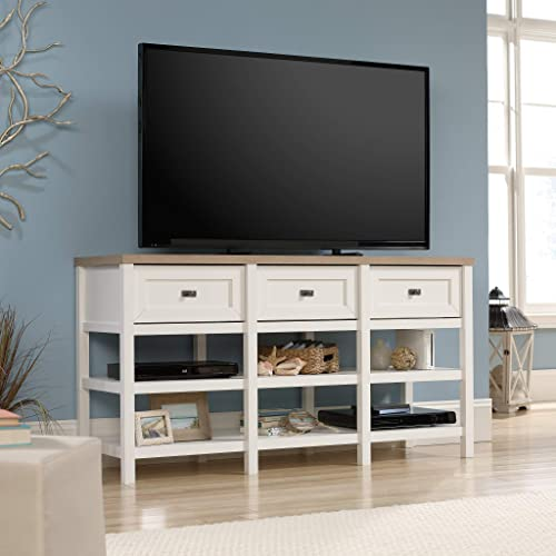 Sauder Cottage Road Credenza, For TV s Up To 60 , Soft White finish