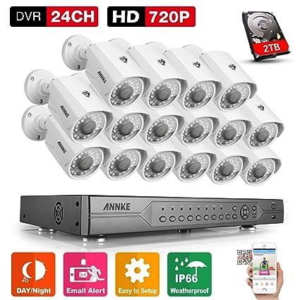 annke Vigilancia CCTV Video Vigilancia 24 CH 1080 N Grabador DVR con 16 x 720p metal