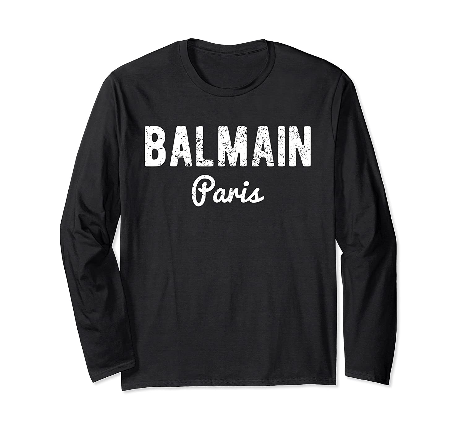Balmain Paris T-shirt - Long Sleeve Men Women-alottee gift