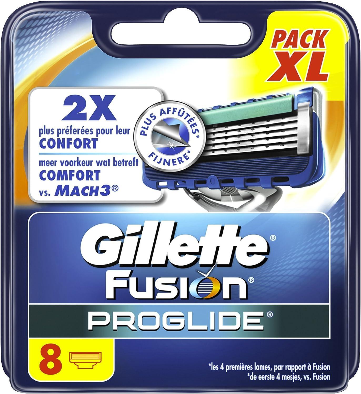 Gillette Fusion PROGLIDE las hojas de afeitar para hombres 8 recargas: Amazon.es: Salud y cuidado personal