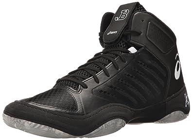 1a399818fe0 ASICS Mens JB Elite III Wrestling Shoe Black White 7 Medium US