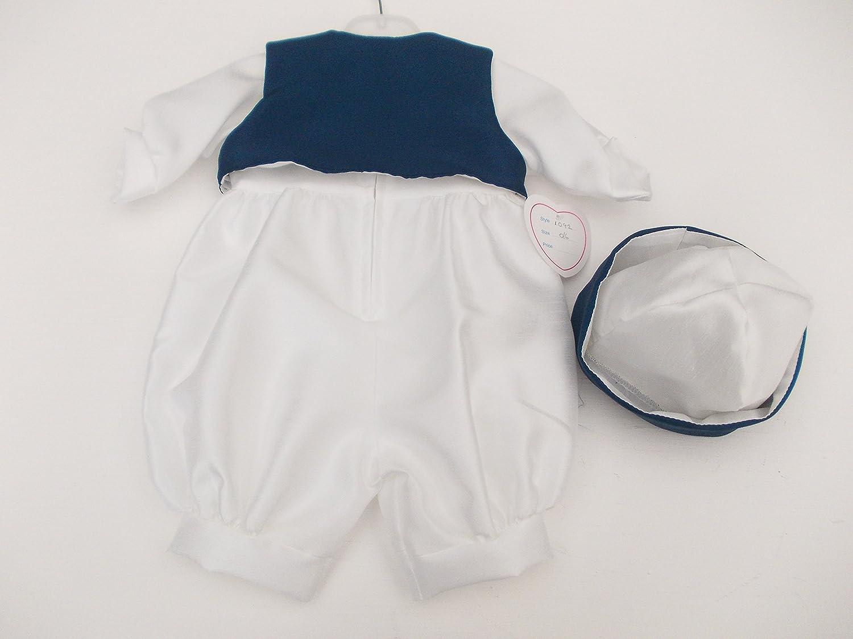 BNWT fabricado en Inglaterra Kinder marinero Baby Boy bautizo ocasión especial Pelele 0 - 6 meses: Amazon.es: Bebé