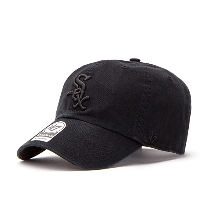 premium selection 08af4 cea6f ... spain 47 brand chicago white sox clean up mlb strapback hat cap all  black black 7cfdc