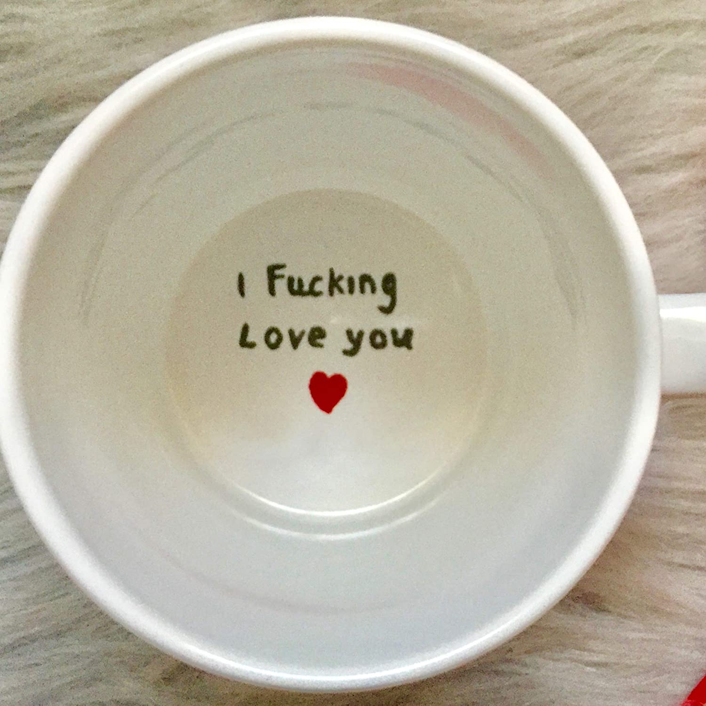 Amazon Com Usa Shop Hidden Message Mug I Love You Surprise Mug I Love You Engagement Mug I Fucking Love You Coffee Mug Valentines Gift Boyfriend Girlfriend Handmade