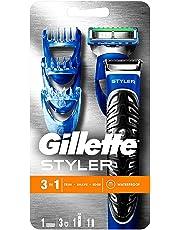 Gillette Fusion ProGlide Styler - Maquinilla de barba multiusos , recortadora, afeitadora, perfiladora, pilas, negro