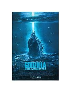 """Godzilla King of The Monsters Movie 2019 Art Print Size 13x20 24x36 27x40 32x48 (24""""x36""""(60x91cm))"""