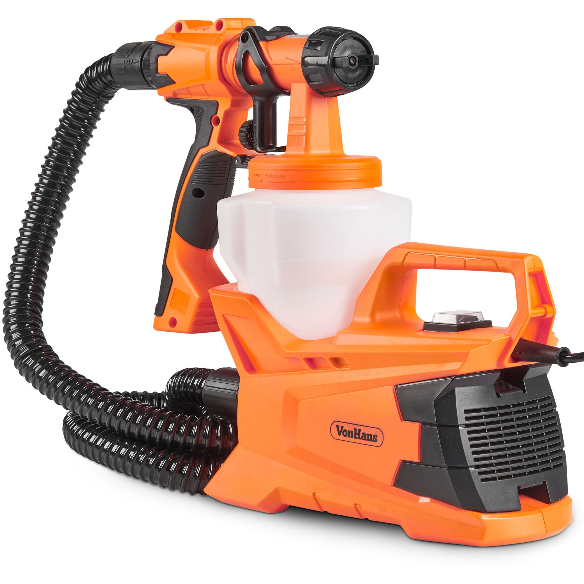 VonHaus 6.5Amp Electric HVLP Spray Gun Power Paint Sprayer with 3 Adjustable Spray Patterns, Flow Control for Home and Outdoor Use