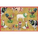 Entertaining with Caspari Barnyard Animals Christmas Cards (Box of 16)