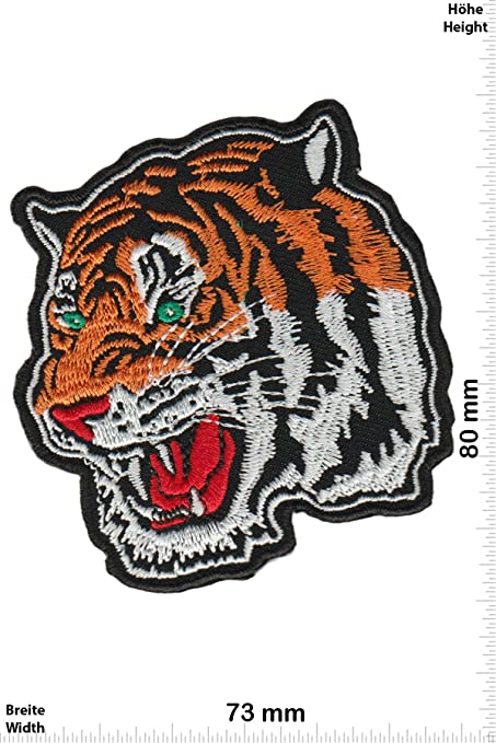 Patch Parches – Tiger Head – Animales – Tiger – Iron on on Aplique ...