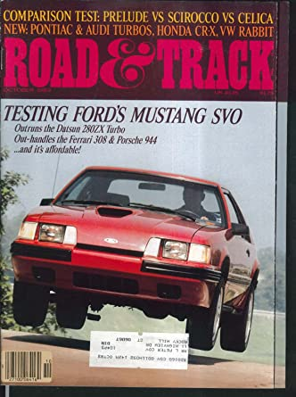 Amazon.com: ROAD & TRACK Ford Mustang SVO Honda Prelude Toyota Celica Volkswagen ++ 10 1983: Entertainment Collectibles