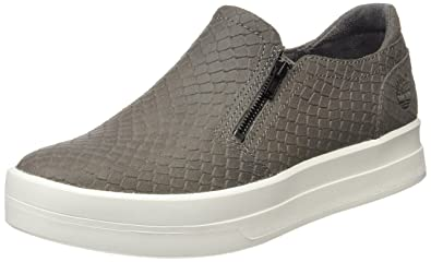 c1712ae882846 Timberland Women's Mayliss Slip Onsteeple Grey Snake Suede Loafers