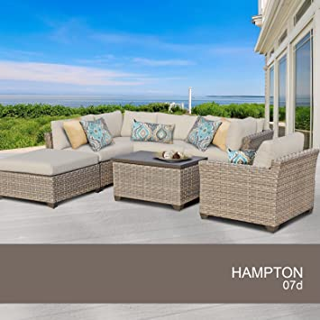 Exceptional Hampton 7 Piece Outdoor Wicker Patio Furniture Set 07d