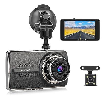 06efb8d76 Cámara para auto MixMart Dual Dashcam (trasera y delantera) Full HD 1080P  con pantalla de 4