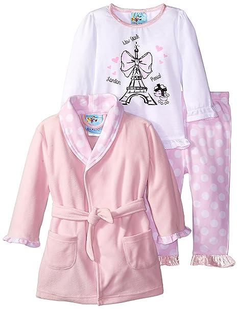 0b0f56a4f7af Baby Bunz Baby Girls 3 Piece Paris Dreamer Robe and Pajama Set ...