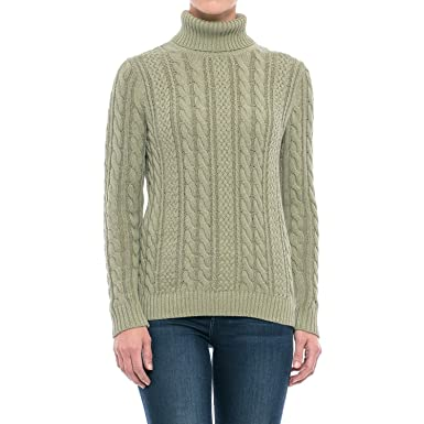 bfb1e1ba38338 Jeanne Pierre Women s Fisherman Cable-Knit Turtleneck Sweater at Amazon  Women s Clothing store