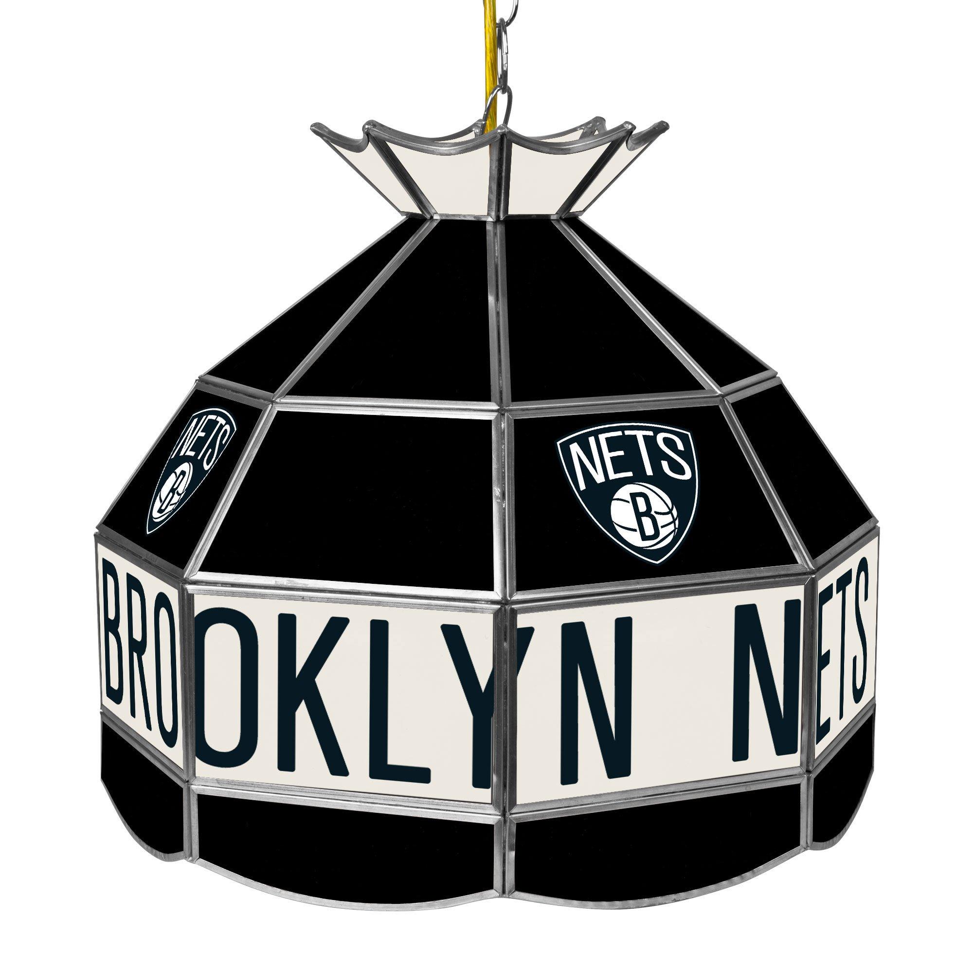 NBA Brooklyn Nets Tiffany Gameroom Lamp, 16''