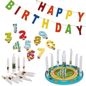 Tib Heyne 75628 - Círculo de cumpleaños, Multicolor: Amazon ...