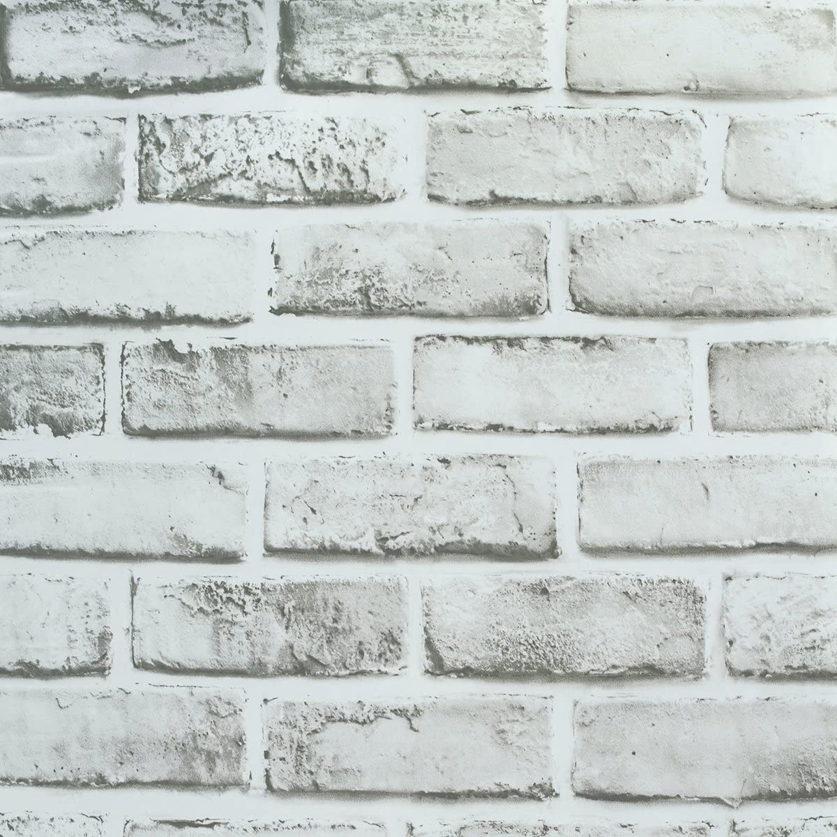 Wallpaper Brick, Removable Self-Adhesive Contact Paper Roll for Room Decor (17.71x 197 inches)
