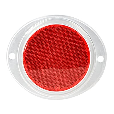 "Grand General 80816 Red 3"" Round Reflector with Aluminum Base for Trucks, Towing, Trailers, RVs and Buses, 1 Pack: Automotive"