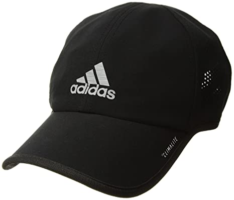 sports shoes b3c02 3941b adidas Mens Superlite Pro Relaxed Adjustable Performance Cap, BlackSilver  Reflective, One Size