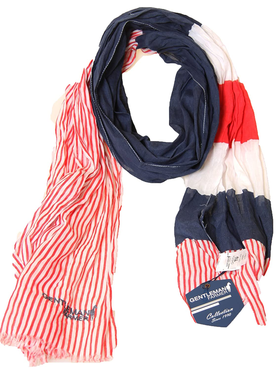 Neck Scarf Tagelmust Gentleman Farmer Chech Blue or Red 100/% Cotton