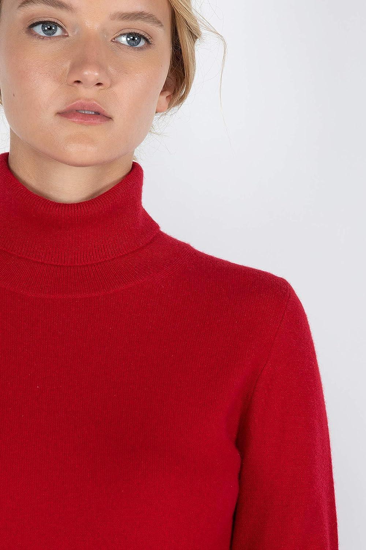 JENNIE LIU Womens 100/% Pure Cashmere Long Sleeve Pullover Turtleneck Jumper