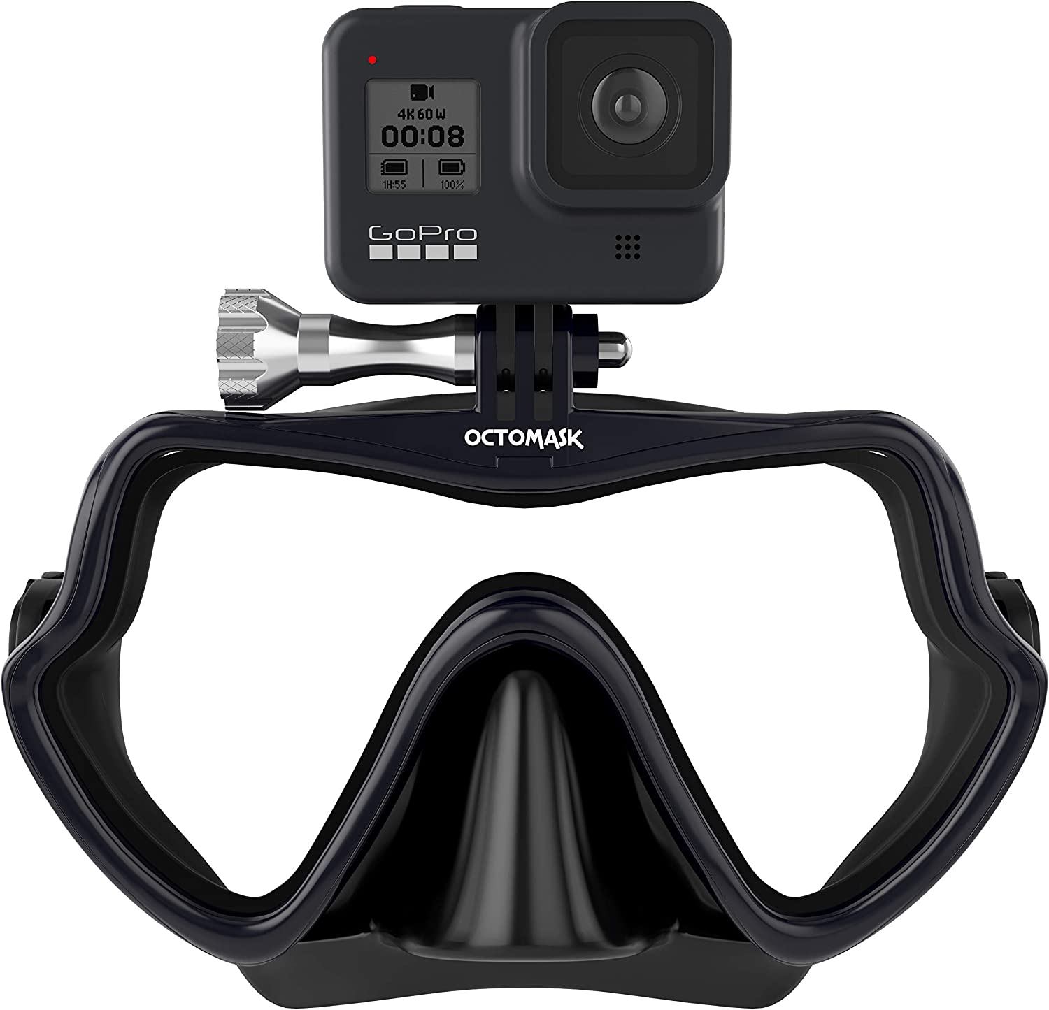 Amazon Com Octomask Frameless Dive Mask W Mount For All Gopro Hero Cameras For Scuba Diving Snorkeling Freediving Black Diving Masks Sports Outdoors