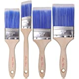 Bates Paint Brushes - 4 Pack, Treated Wood Handle, Paint Brush, Paint Brushes Set, Professional Brush Set, Trim Paint…