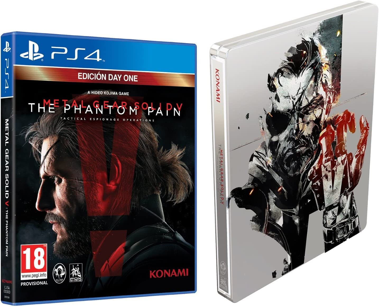 Metal Gear Solid V: Phantom Pain - Day One Edition con Steelbook ...