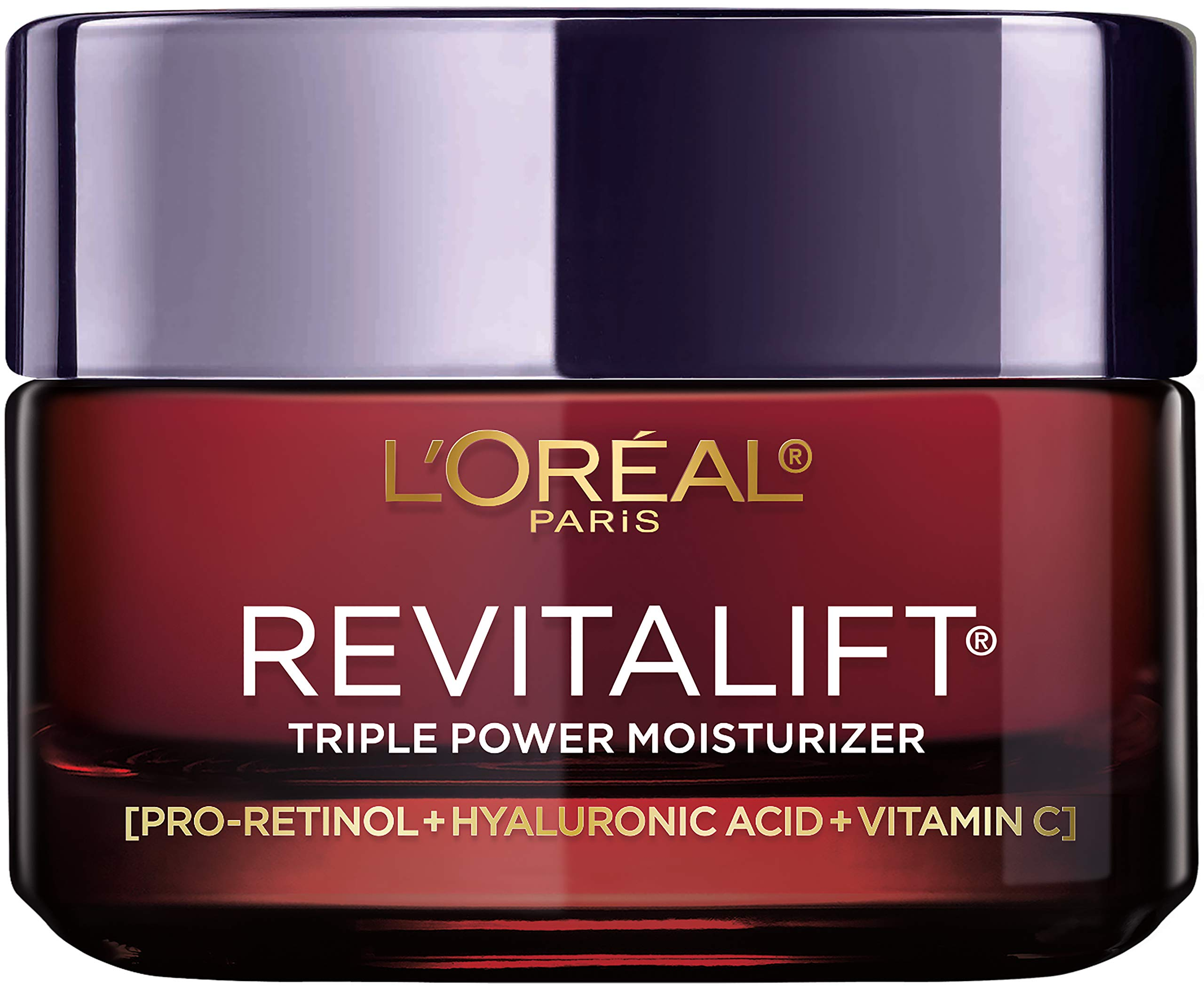 Face Moisturizer by L'Oreal Paris Skin Care I Revitalift Triple Power Anti-Aging Face Cream with Pro Retinol, Hyaluronic Acid and Vitamin C I 1.7 oz. by L'Oreal Paris