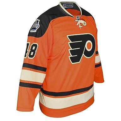16ba0d3f8e4 NHL Philadelphia Flyers Daniel Briere #48 Winter Classic Jersey, Orange,  Large, Jerseys - Amazon Canada