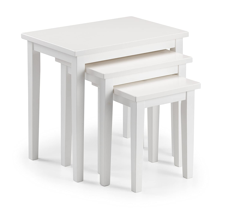 Julian Bowen Cleo di tavolini, Legno, Bianco, 33x 48x 46cm CLE014