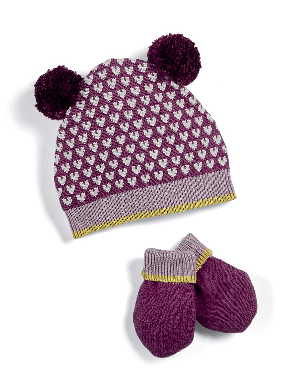 Mamas & Papas Knitted Hat And Mitts, Cappellino Bimba (Pink Sgp) Unica (Taglia Produttore: 6-12 Mesi) Mamas and Papas S432GP2B6