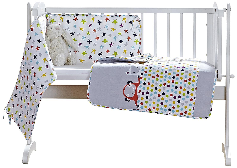 Clair de Lune Grey/Brights The Dudes Crib/Cradle Quilt & Bumper Bedding Set CL5639