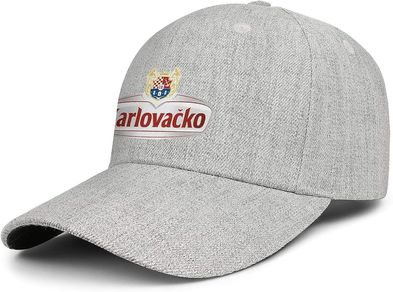 QWQD Karlovacko Logo Womens Mens Wool Travel Cap Adjustable Snapback Sports Hat